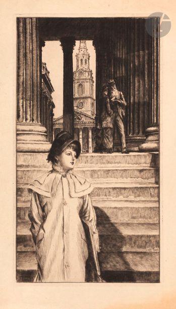 James-J.-J. Tissot (1836-1902) Le Portique...