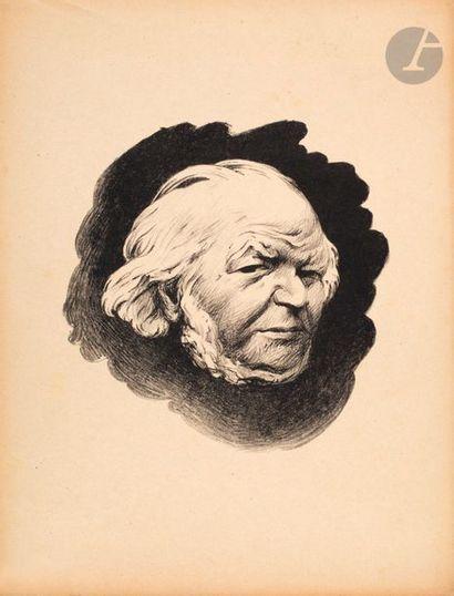 Félix Vallotton (1865-1925) Portrait de Daumier....