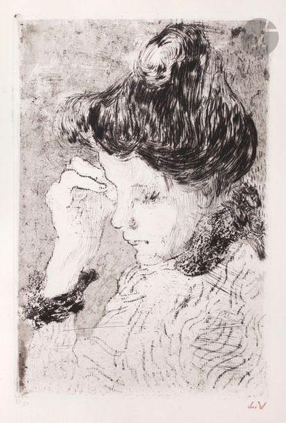 *Louis Valtat (1869-1952) Femme pensive en...