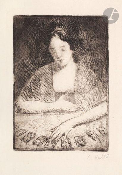 Louis Valtat (1869-1952) La Tireuse de cartes....