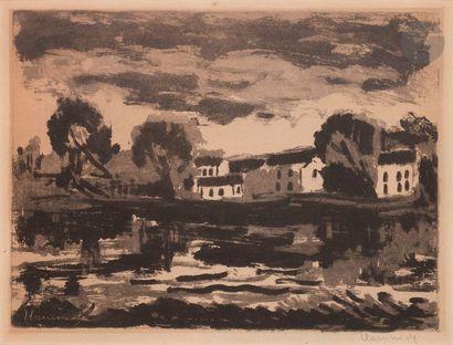 Maurice de Vlaminck (1876-1958) L'Oise à...