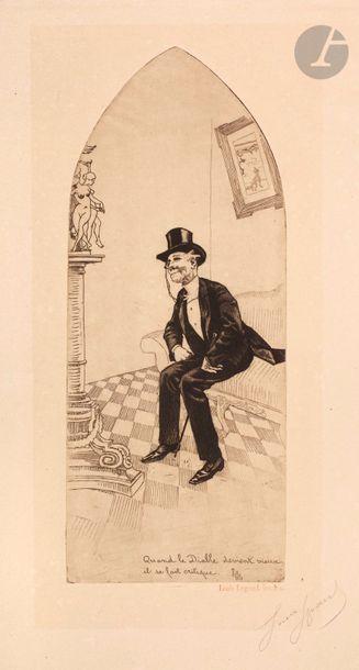 *Louis Legrand (1863-1951) Quand le diable...