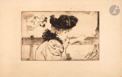 *Louis Legrand (1863-1951) Frio. Eau-forte,...
