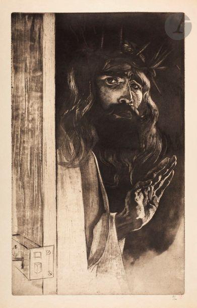 *Louis Legrand (1863-1951) Le Christ (autoportrait)....