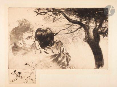 *Louis Legrand (1863-1951) Sous les figuiers....