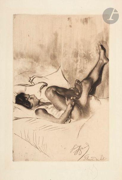 *Louis Legrand (1863-1951) Fleur de lit....