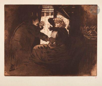 *Louis Legrand (1863-1951) Le Paing quotidien....