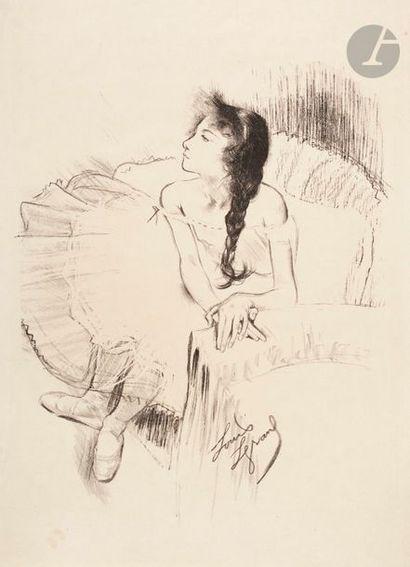 *Louis Legrand (1863-1951) Sur le bout du...