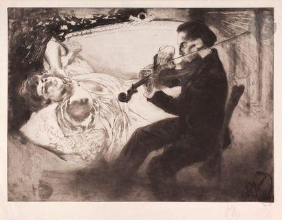 *Louis Legrand (1863-1951) Les Amants. 1898....