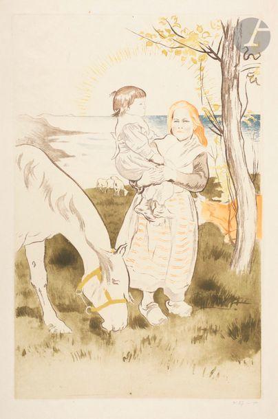 *Louis Legrand (1863-1951) Paysage breton....