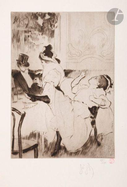 *Louis Legrand (1863-1951) Les Bars. Paris,...