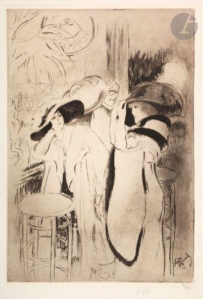 *Louis Legrand (1863-1951) Soireuses. 1911....