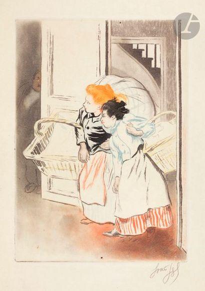 *Louis Legrand (1863-1951) Les Blanchisseuses;...