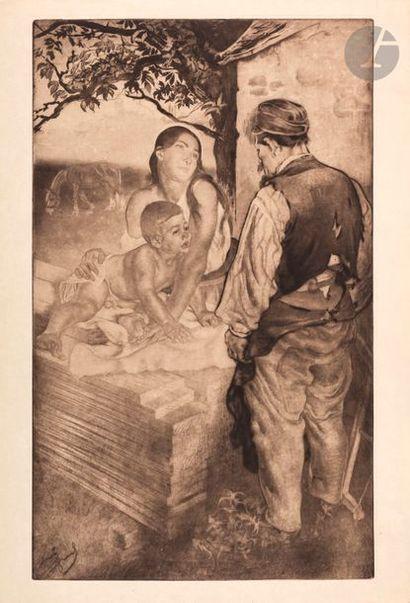 *Louis Legrand (1863-1951) Le Fils du charpentier;...