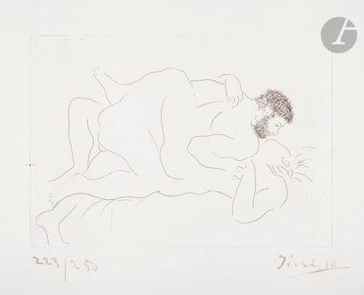 Pablo Picasso (1881-1973) Homme et femme....