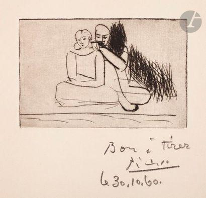 Pablo Picasso (1881-1973) Couple au bord...