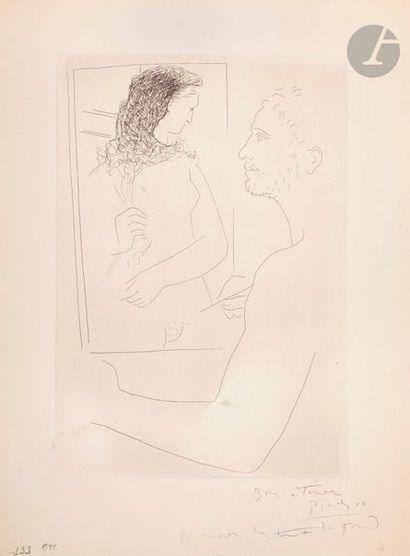 Pablo Picasso (1881-1973) Peintre devant...