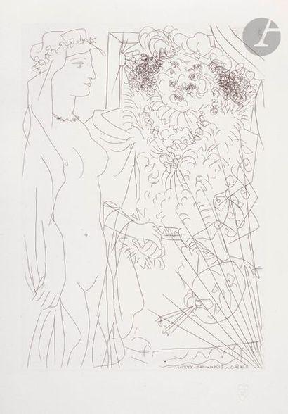Pablo Picasso (1881-1973) Suite Vollard Rembrandt...