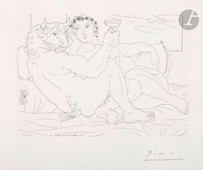Pablo Picasso (1881-1973) Suite Vollard Minotaure,...