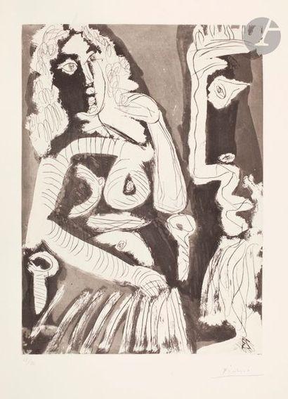 Pablo Picasso (1881-1973) Modèle au repos...