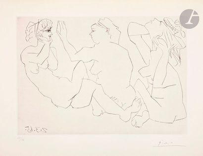 Pablo Picasso (1881-1973) Trois femmes nues....