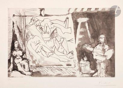 Pablo Picasso (1881-1973) Peintre et sa toile...