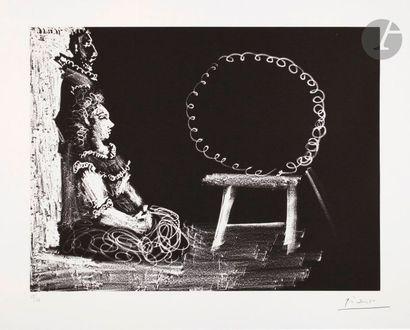 Pablo Picasso (1881-1973) Couple posant pour...