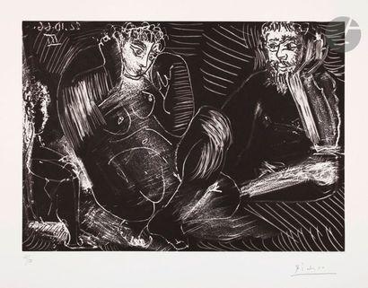 Pablo Picasso (1881-1973) Couple avec enfant....