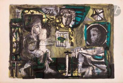 Antoni Clavé (1913-2005) La Sainte Famille....
