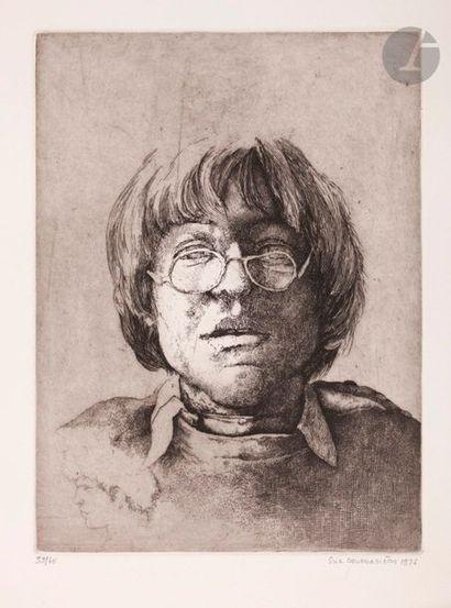 Érik Desmazières (né en 1948) Portrait aux...