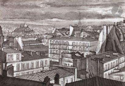 Érik Desmazières (né en 1948) Paris, vent...