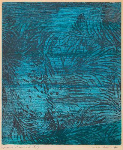 Max Ernst (1891-1976) Composition. (Pl. pour...