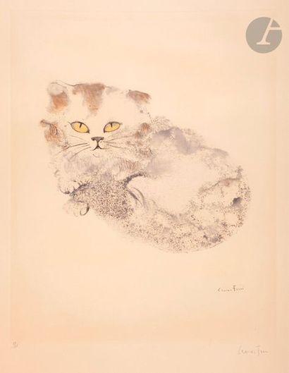 Leonor Fini (1908-1996) Le Chat. Eau-forte...