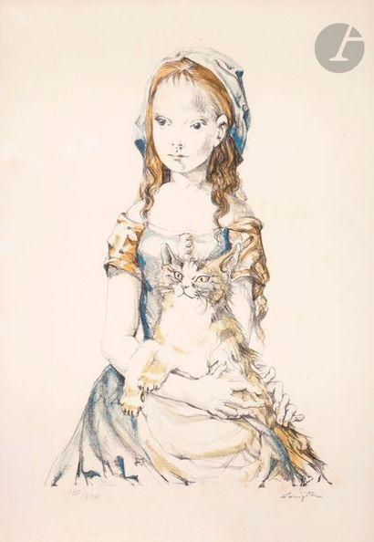 Léonard-Tsuguharu Foujita (1886-1868) Fillette...