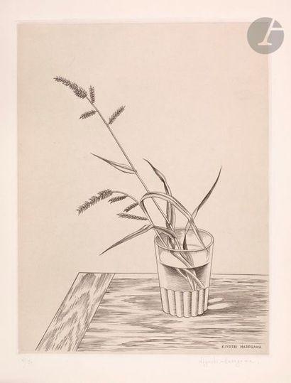 Kiyoshi Hasegawa (1891-1980) Herbes dans...