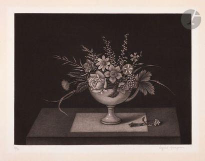 Kiyoshi Hasegawa (1891-1980) Coupe de fleurs...