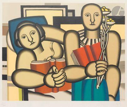 Fernand Léger (1881-1955) (d'après) La Lecture....