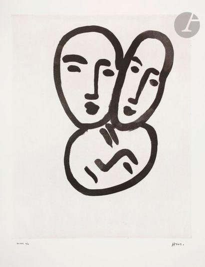 Henri Matisse (1869-1954) Trois têtes; À...