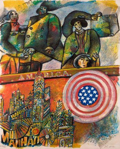 Théo Tobiasse (1927-2012) America. 1986....