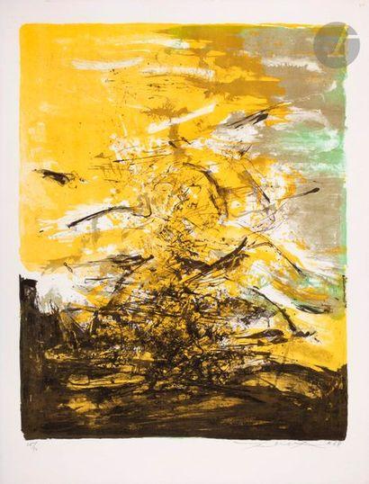 Zao Wou-Ki (1920-2013) Composition. 1968....