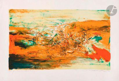 Zao Wou-Ki (1920-2013) Composition. 1973....