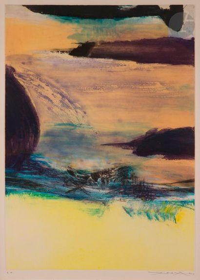 Zao Wou-Ki (1920-2013) Composition. 1974....