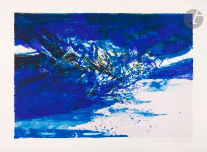 Zao Wou-Ki (1920-2013) Composition. 1998....