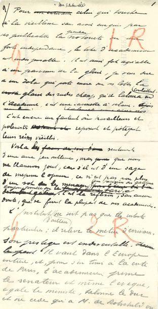 BARRÈS Maurice (1862-1923) [AF 1906, 4ef]....
