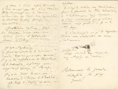 BAUDELAIRE Charles (1821-1867). L.A.S. «Charles»,...