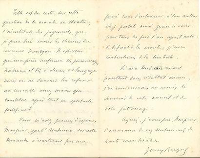 BECQUE Henry (1837-1899) auteur dramatique....