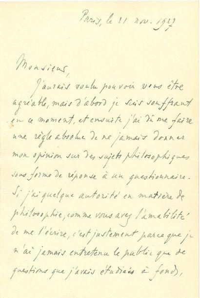 BERGSON Henri (1859-1941) philosophe [AF...
