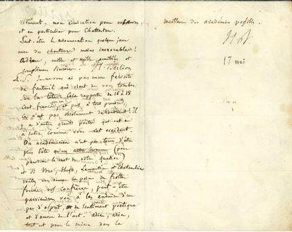 BERLIOZ Hector (1803-1869). L.A.S. «H. Berlioz»,...