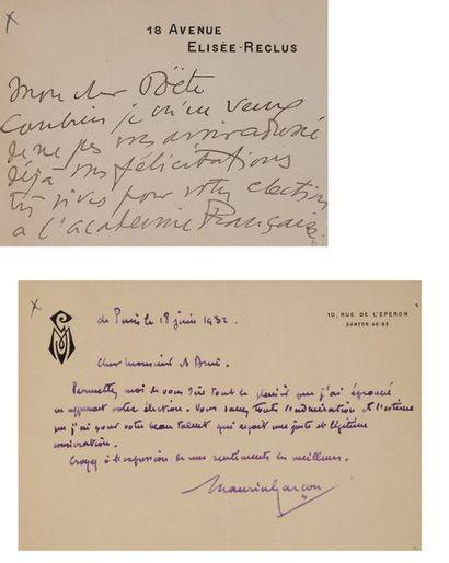 BONNARD Abel (1883-1968) écrivain, ministre...