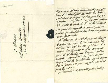CAMBACÉRÈS Jean-Jacques-Régis de (1753-1824)...